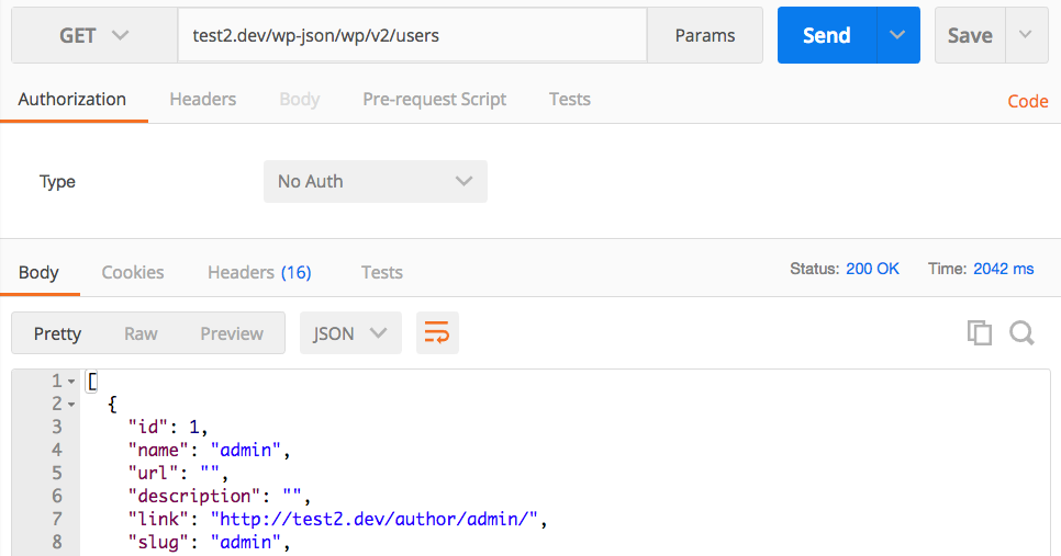 Rest API JSON Response Using Postman
