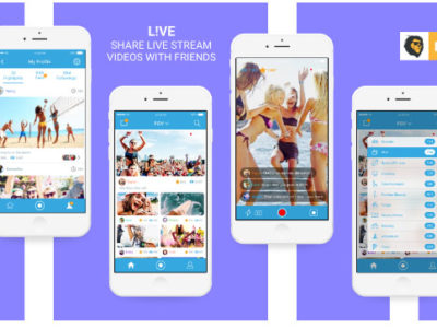 Web Design Portfolio item - iPhone and Android mobile app -  L!VE lets you share live stream video with friends and family. It's easy to broadcast live moments any place any time to anyone in the world. Send and save