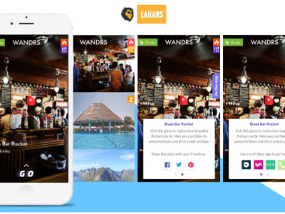 Web Design Portfolio item - Wandrs is the easiest way to find the best stuff around you. No more filtering, star reviews, or endless scrolling. We show you a highly curated list of the best spots, rank them by distance to your location, and give you 360 degree video to help you quickly decide.