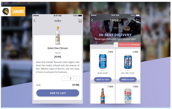 iPhone and Android App - Shopping Cart for Ordering Liquor